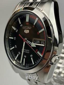 Seiko 5 Automatic Black Speedometer Dial Steel SNK375K1 Mens Watch RRP £169