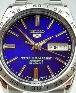 Seiko 5 Automatic Blue Dial Stainless Steel Mens Watch SNKD99K1 RRP £169