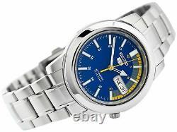 Seiko 5 Automatic Blue Orange Speedometer Dial Mens Watch SNKK27K1 RRP £169