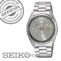 Seiko 5 Automatic Grey Dial Silver Steel 37mm SNXS75K1 Men's Watch RRP £169