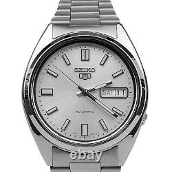 Seiko 5 Automatic Silver Dial Stainless Steel Mens Watch SNXS73K SNXS73 RRP £169