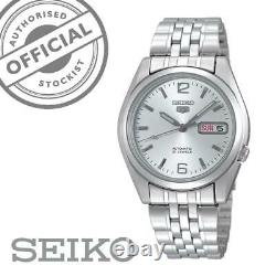 Seiko 5 Automatic Silver Stainless Steel 37 mm Mens Watch SNK385K1 RRP £169