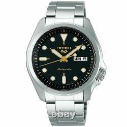 Seiko 5 Sports Automatic Black Dial Silver Steel Men's Watch SRPE57K1 RRP £230
