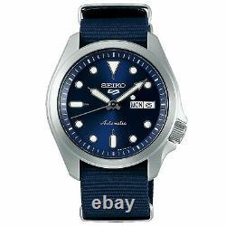 Seiko 5 Sports Automatic Blue Dial Nylon Strap Men's Watch SRPE63K1 RRP £230