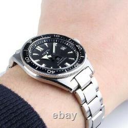 Seiko Men's Prospex Automatic Black Dial Stainless Steel Watch SPB051J1 NEW