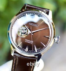 Seiko Presage Brown Dial Leather Band Automatic Watch SSA407 AUTHENTIC