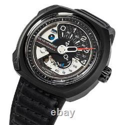 SevenFriday Men's Watch V-Series Automatic Black Semi-Matte Leather Strap V3-01