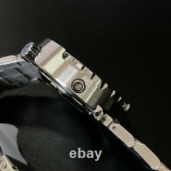 Sharkey tuna diver watch mens automatic watches new 22mm dive watch band silver