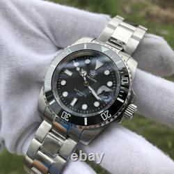 Steeldive 1953 Diver Watch Automatic Men 41mm Black Dial Submariner Seiko NH35