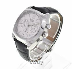 TAG HEUER Monza CR2111 Chronograph Silver Dial Automatic Men's Watch C#102280