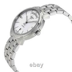 Tissot T-Classic Automatic III Day Date White Dial Men's Watch