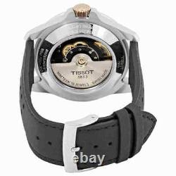 Tissot V8 Automatic Silver Dial Black Leather Men's Watch T1064072603100