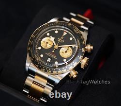 Tudor Black Bay Chrono S&G 79363N Steel Gold Mens Wristwatch