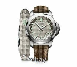 Victorinox Swiss Army INOX Automatic Gray Dial Wooden Strap Men's Watch 241867