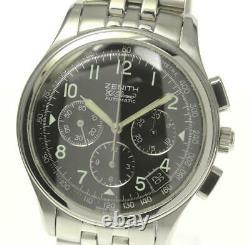 ZENITH El Primero 90/01 Chronograph Black Dial Automatic Men's Watch(a) 527567